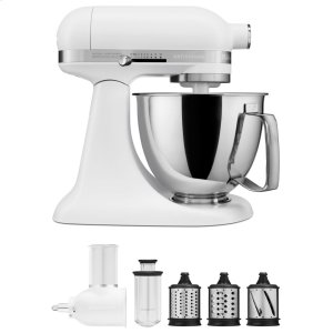 KitchenaidExclusive Artisan® Series Stand Mixer & Fresh Prep Attachment Set - Matte White