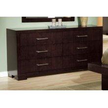 Jessica Cappuccino Six-drawer Dresser