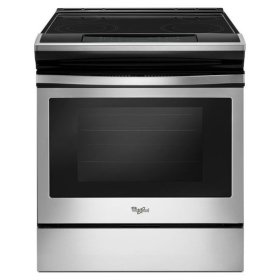 Whirlpool® 4.8 cu. ft. Guided Electric Front Control Range With The Easy-Wipe Ceramic Glass Cooktop - Black-on-Stainless