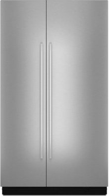 """NOIR™ 48"""" Fully Integrated Built-In Side-by-Side Refrigerator Panel-Kit, Stainless Steel"""