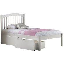 Alaska Honey Pine Twin Spindle Bed w/ 2 Storage Drawers
