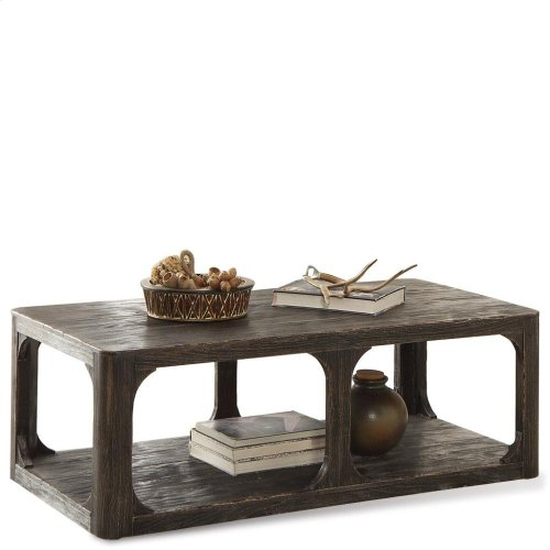 Bellagio - Rectangular Coffee Table - Weathered Worn Black Finish