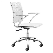 Criss Cross Office Chair White