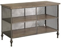 Remington Round Eyelit Metal and Wood Media Console