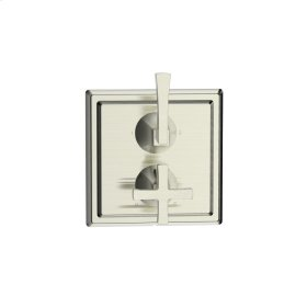 Dual Control Thermostatic with Diverter and Volume Control Valve Trim Hudson (series 14) Satin Nickel (1)