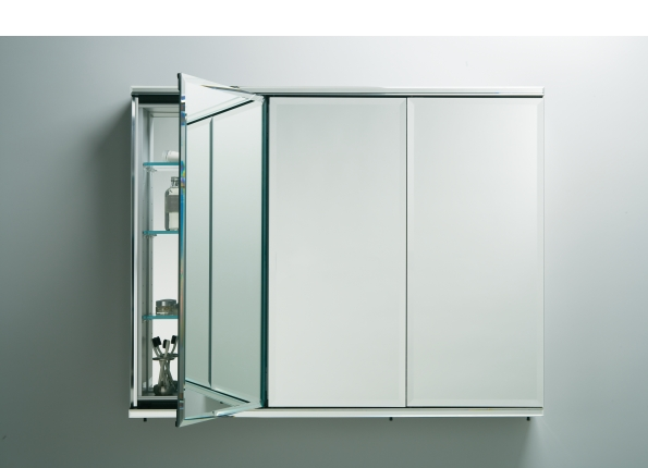 C Series Cabinet Three-door Flat Beveled Mirrored Cabinets