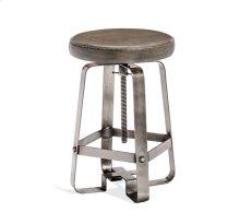 Mason Adjustable Stool - Silver