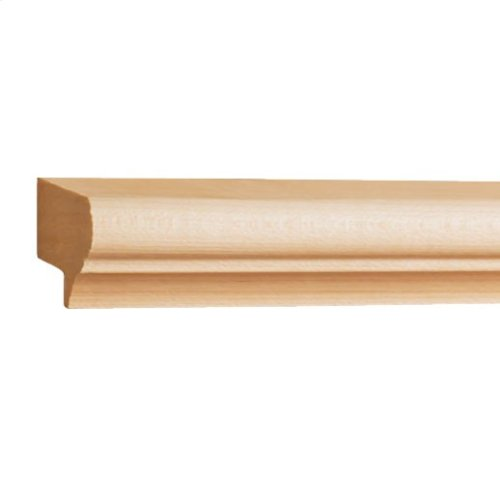 "1-1/2"" x 13/16"" Light Rail Moulding Species: Hard Maple"
