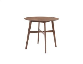 """Emerald Home Simplicity Round Gathering Table 42"""" Walnut D550-13"""