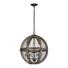 Renaissance Invention Wood And Wire Chandelier - Small