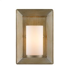 Smyth 1 Light Wall Sconce in White Gold with Opal Glass