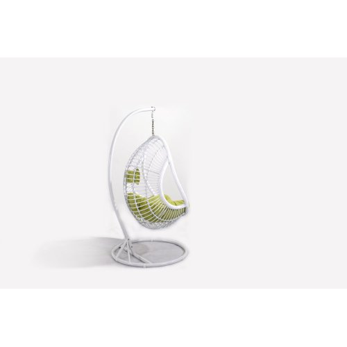 Emerald Home Catalina Hanging Basket Green W/white Wicker Frame Ou1061-09-08-k