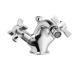 Single Hole Bidet Blade Cross Handles - Polished Chrome
