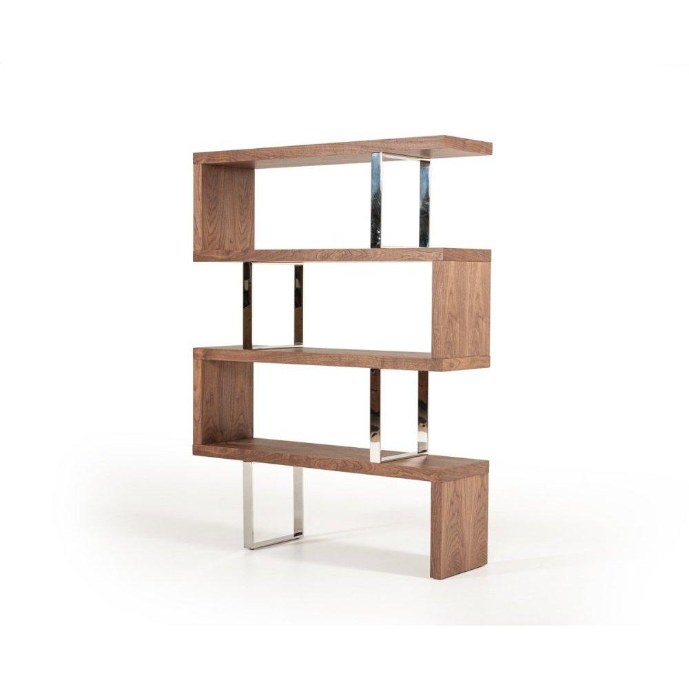 Modrest Maze Modern Walnut Bookcase