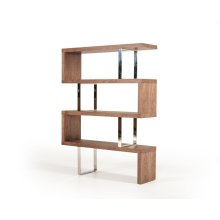 Modrest Maze Modern Walnut Bookcase