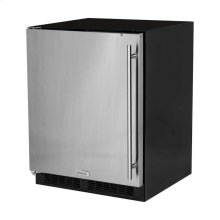 """24"""" ADA Height All Refrigerator - Solid Stainless Steel Door - Left Hinge"""