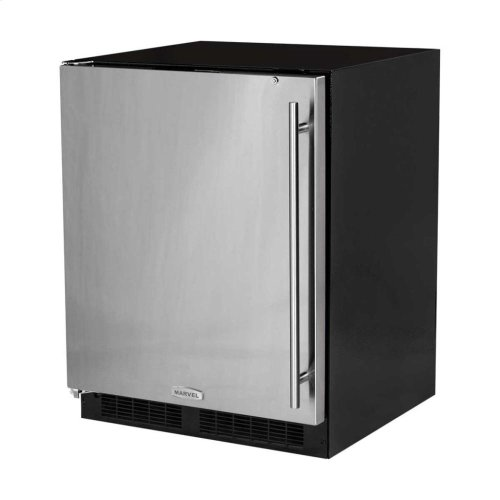"24"" ADA Height All Refrigerator - Solid Stainless Steel Door - Right Hinge"