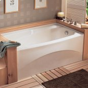 Colony 66x32 inch Integral Apron Bathtub - White