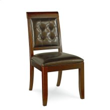 UPHOLSTERED LEATHER SIDE CHAIR-KD