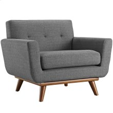 Engage Upholstered Fabric Armchair in Gray