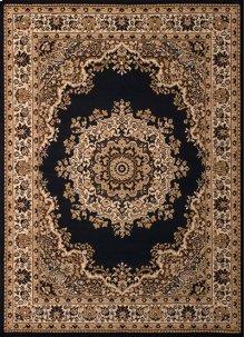 Dallas Floral Kirman Black Rugs