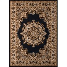 Dallas Floral Kirman Black Rugs
