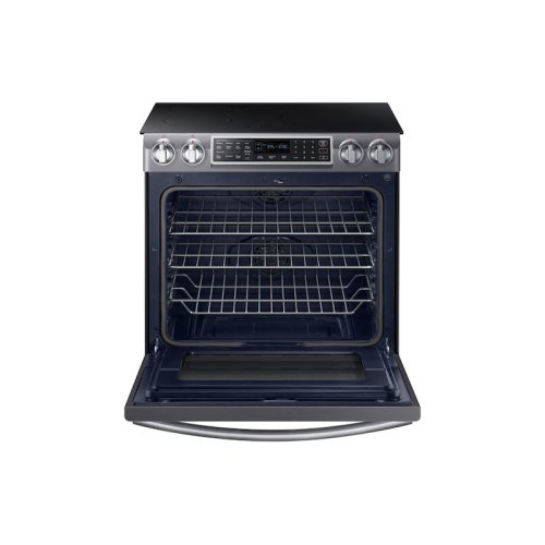 5.8 cu. ft. Slide-In Induction Range with Virtual Flame Technology in Black Stainless Steel
