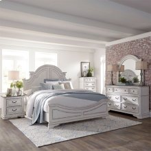 Queen Panel Bed, Dresser & Mirror, Chest, N/S