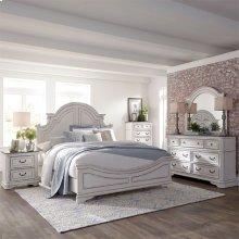 Queen Panel Bed, Dresser & Mirror, Chest, N/S