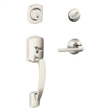 Greenwich Single Cylinder Handleset and Latitude Lever - Polished Nickel