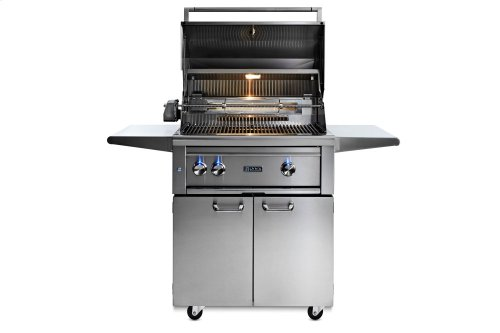 "30"" Lynx Professional Freestanding Grill with 1 Trident and 1 Ceramic Burner and Rotisserie, NG"