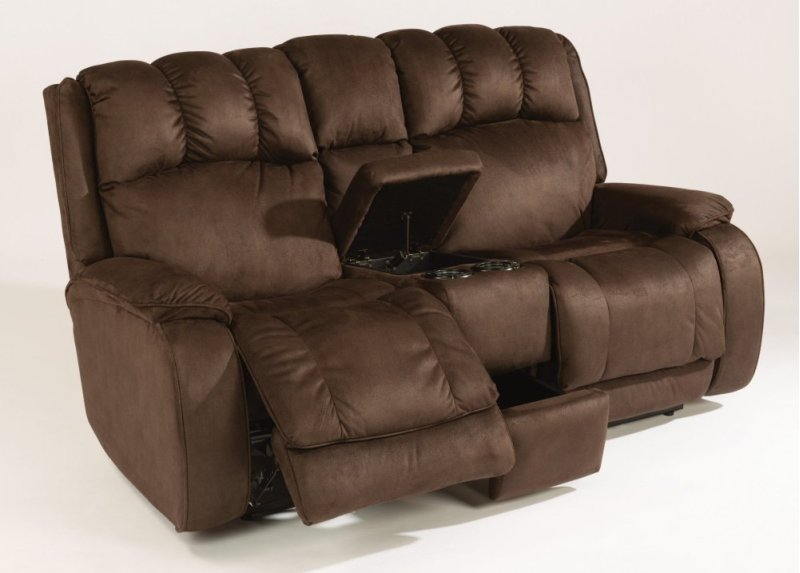 Marvelous Huron Fabric Power Reclining Loveseat With Console Alphanode Cool Chair Designs And Ideas Alphanodeonline