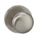 Interior Traditional Knob Latchset with Modern Round Rose - Solid Brass in TB (Tuscan Bronze, Lacquered) Product Image