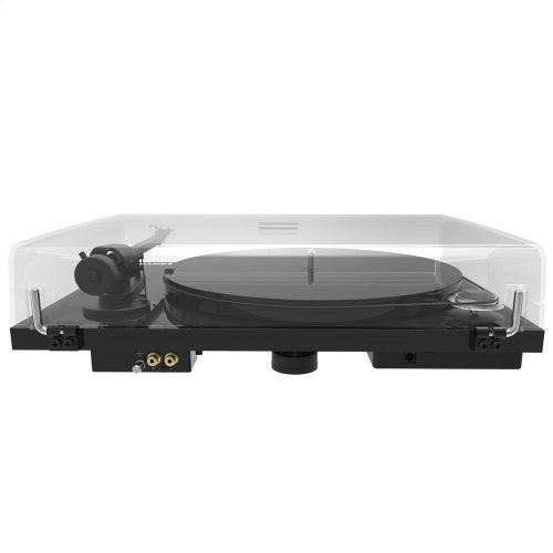 Black- Elevate your listening experience with brilliant stereo sound and rich bass for vinyl and streaming.