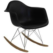 Rocker Plastic Lounge Chair in Black