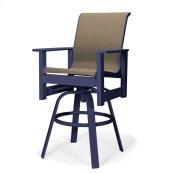 Leeward MGP Sling Bar Height Swivel Arm Chair