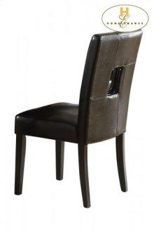 Side Chair, Black Bi-Cast Vinyl