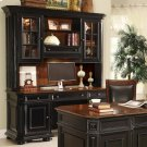 Allegro - Credenza Hutch - Burnished Cherry/rubbed Black Finish Product Image