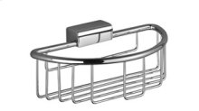 Shower basket for wall-mounted installation - chrome