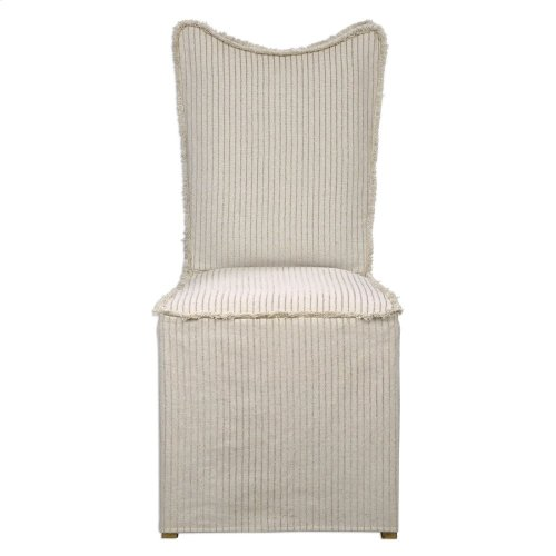 Lenore Armless Chairs, Oatmeal, 2 Per Box