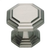 Dickinson Octagon Knob 1 1/4 Inch - Brushed Nickel