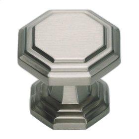 Dickinson Octagon Knob 1 1/4 Inch - Brushed Nickel