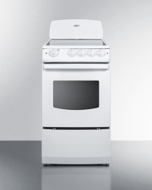 """20"""" Wide Smooth-top Electric Range In White With Oven Window"""
