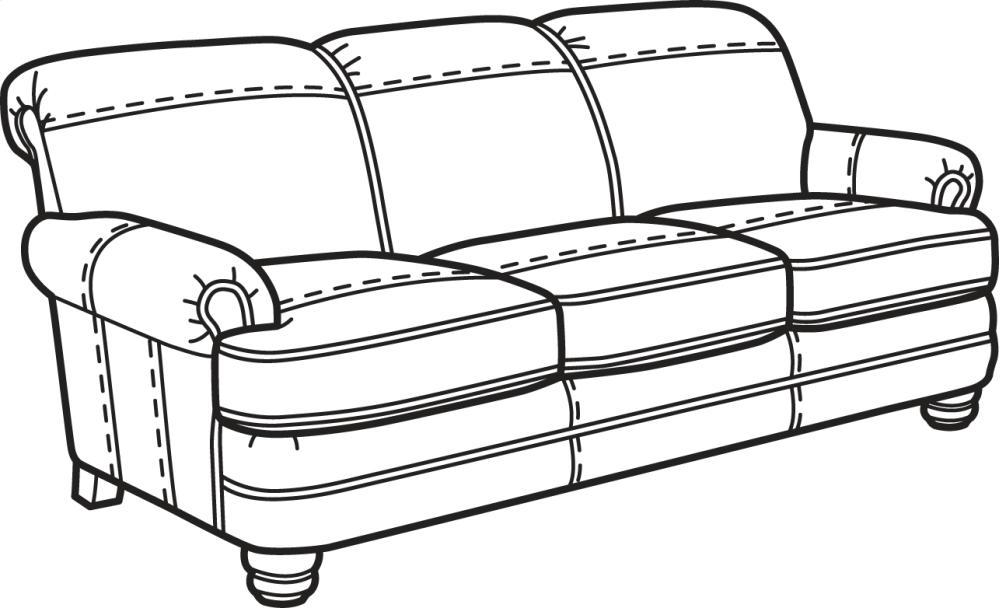 Bay Bridge NuvoLeather Sofa Without Nailhead Trim