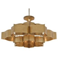 Grand Lotus Gold Large Chandelier