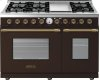 Range DECO 48'' Classic Brown matte, Bronze 6 gas, griddle and 2 electric ovens