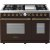 Additional Range DECO 48'' Classic Brown matte, Bronze 6 gas, griddle and 2 electric ovens
