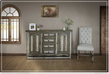 Console w/ 4 Drawers & 2 Doors