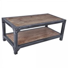 Armen Living Astrid Industrial Coffee Table