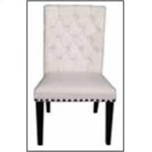 Weber Traditional Smokey Black Upholstered Side Chair